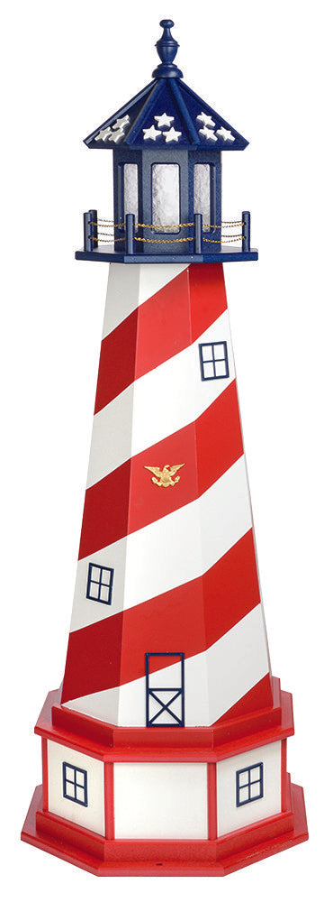 Amish Crafted 5 ft. Patriotic Cape Hatteras (shown with optional base)