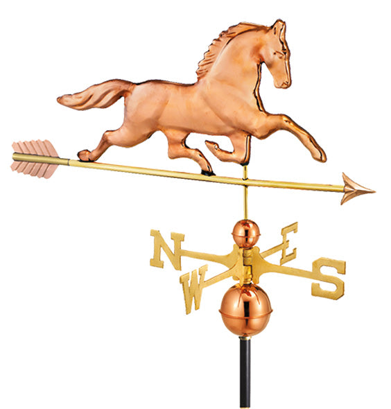 Amish Crafted North Fork/Hampton Series Weathervanes-Patchen Horse