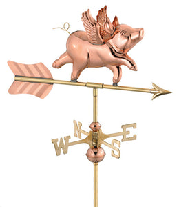 Amish Crafted Shed Series Weathervanes-Flying Pig