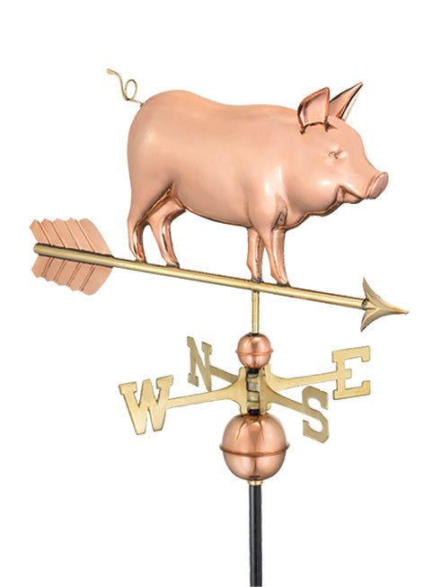 Amish Crafted North Fork/Hampton Series Weathervanes-Country Pig