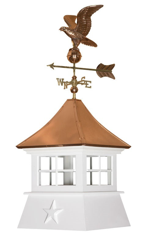 Amish Crafted Cottage Series Cupola - Aspen (shown with optional weather-vane)