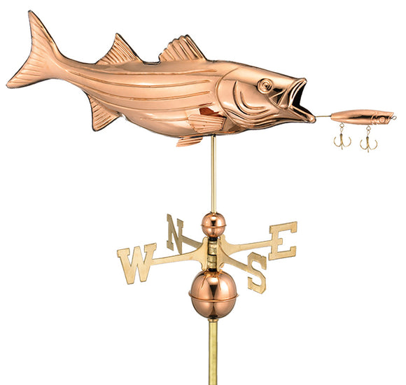 Amish Crafted North Fork/Hampton Series Weathervanes - Bass