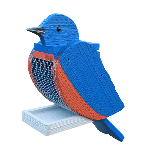 Amish Hand Crafted Bird Feeder-Bluebird