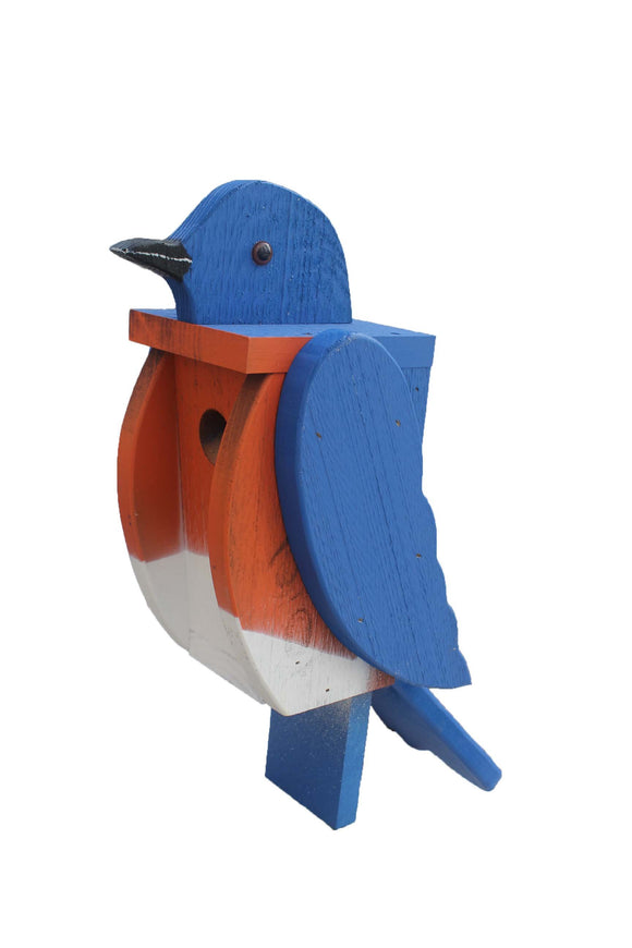 Amish Hand Crafted Bird House-Bluebird