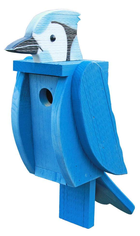 Amish Hand Crafted Bird House-Bluejay
