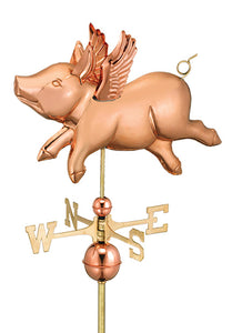 Amish Crafted North Fork/Hampton Series Weathervanes - Flying Pig