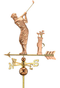 Amish Crafted North Fork/Hampton Series Weathervanes - Golfer