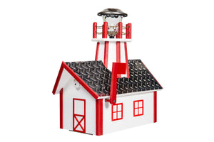Poly Lighthouse Mailboxes - White & Cardinal Red