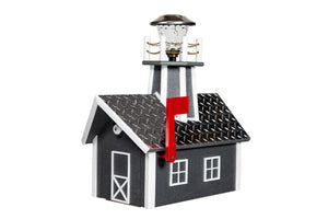 Poly Lighthouse Mailboxes - Gray & White