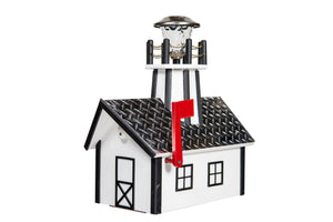 Poly Lighthouse Mailboxes - White & Black