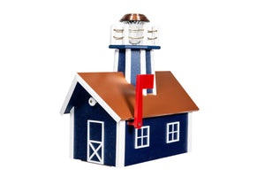 Poly Lighthouse Mailboxes - Patriot Blue & White
