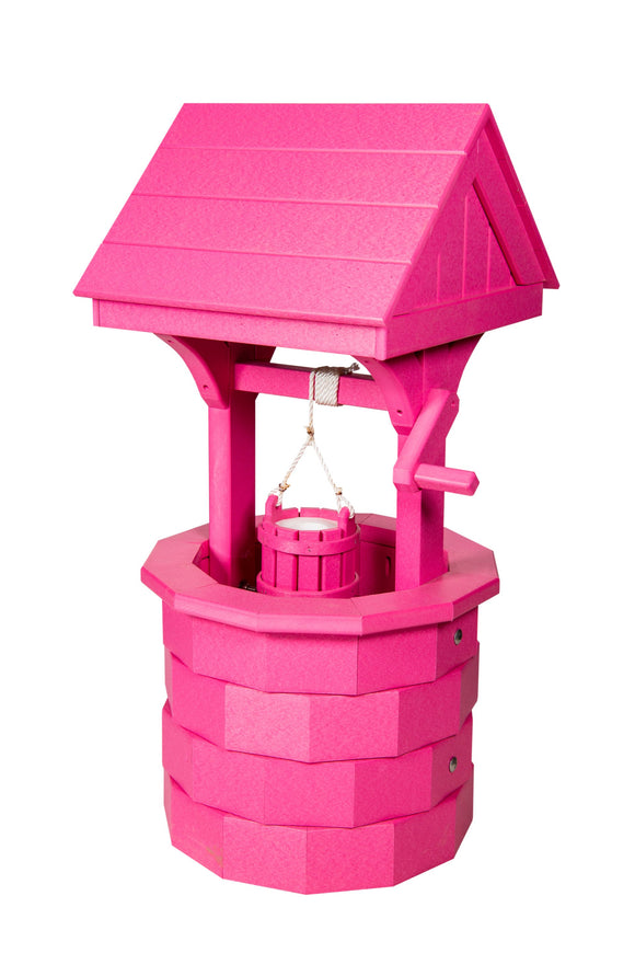 Amish Hand Crafted Small Wishing Well - Pink