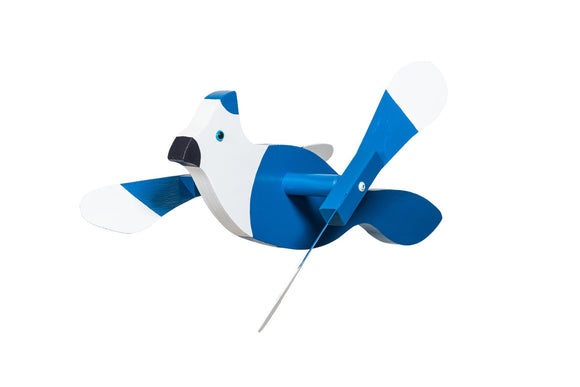 Amish Hand Crafted Whirly Bird-Blue Jay