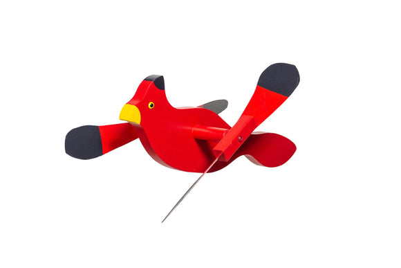 Amish Hand Crafted Whirly Bird-Cardinal