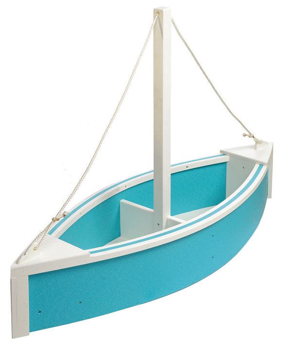 Sailboat Planter - Aruba Blue and White