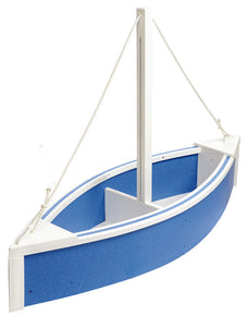 Sailboat Planter - Blue & White