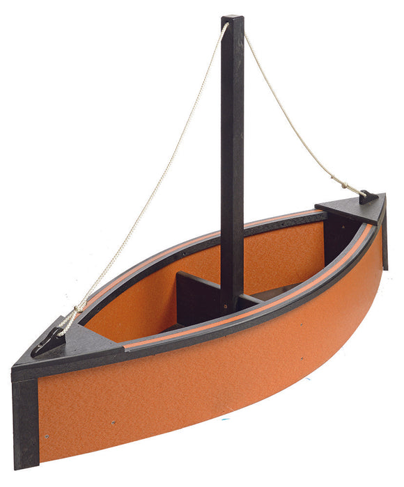Sailboat Planter - Cedar & Black