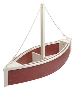 Sailboat Planter - Cherrywood and White