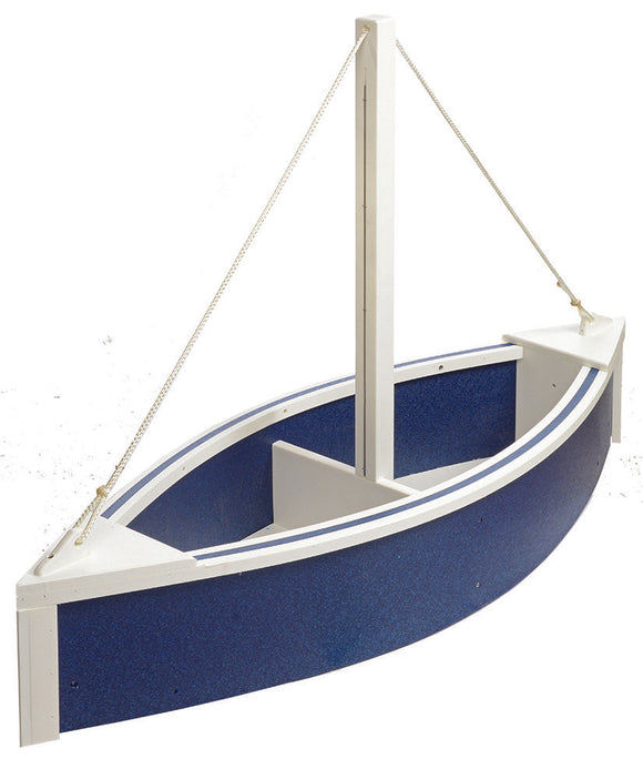 Sailboat Planter - Patriot Blue and White