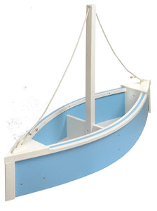 Sailboat Planter - Powder Blue and White