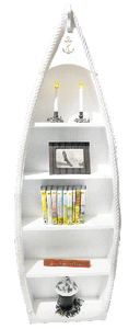 Large Wood Rowboat Bookshelves