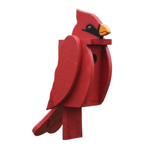 Amish Hand Crafted Bird House-Cardinal
