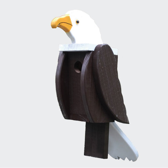 Amish Hand Crafted Bird House-Bald Eagle