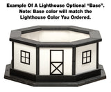 Amish Crafted 5 ft. Stone Lighthouse with Black Top