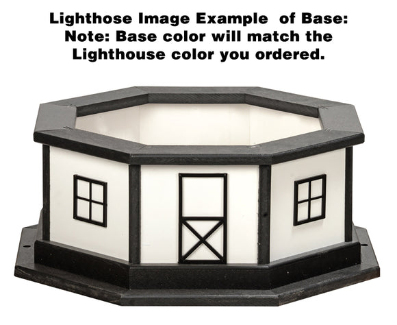 Amish Crafted 3 ft Lighthouse Base-Wood