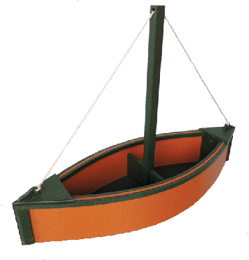 Sailboat Planter - Cedar & Green