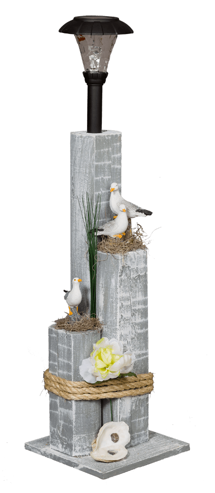Nautical Solar Posts - Sea Gull Family