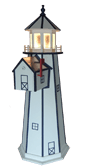 Lighthouse with Built-in Mailbox - Poly