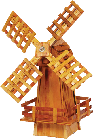 Amish Crafted Small Wooden Windmill