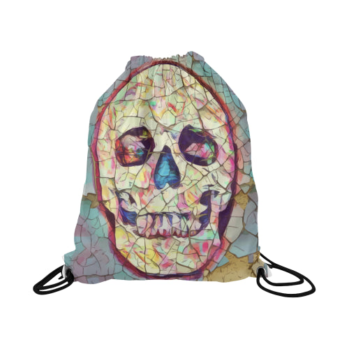 Draw String Bag Large Size Featuring Skull Candy Design