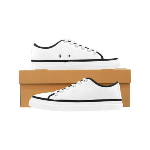 Women's White Non Slip Canvas Shoes for Custom Printing