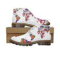 Custom Chukka Boots with world map design on them, Design your own Custom Boots online Free