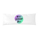 White Custom Body Pillow Case with Your Design Here on the front. Personalise your own Body Pillow Case Online