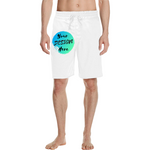 Man wearing White Custom Made Shorts-Custom Board Shorts-Personalised Men's Shorts are easy with our Custom Short Make Tool