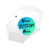 White Custom Umbrella with Your Design Here on the front. Personalise your own umbrella online