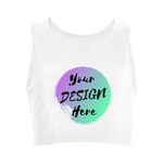White Custom Sports Top for personalising with your own designs