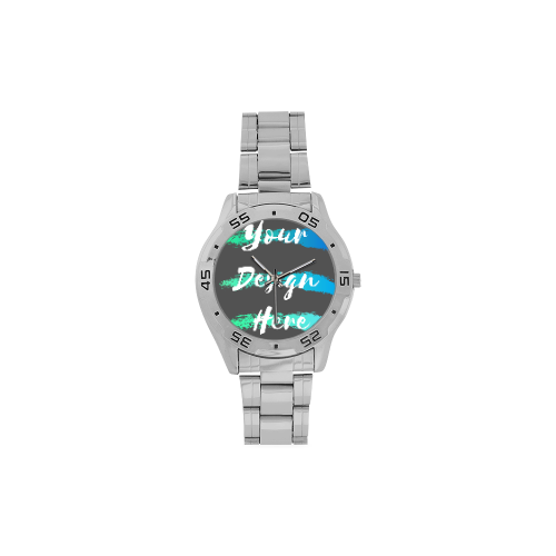 Custom Watch - Men's Analog Stainless Steel Watch for Personalizing