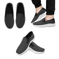 Slip On Unisex Canvas Sneakers in Dark Grey for Customising with your own Designs