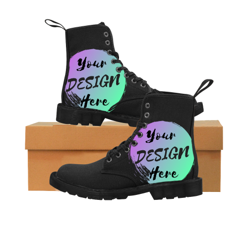 Martin Style Boots Black to Customize with your own designs