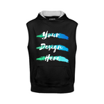 Black Sleeveless Hoodie-Personalize online free
