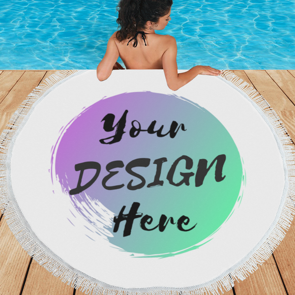Customize your own Personalized Round Beach Towel