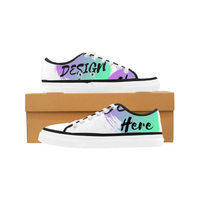 White Custom Low Top Shoes to customize with your own designs