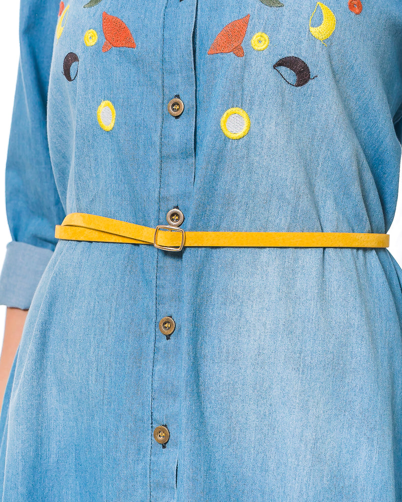 KOORDINATED DEAL - Gweyne Denim Shirt-Dress with Embroidery