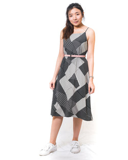 Stacie BnW Geometric-Print Tank Dress