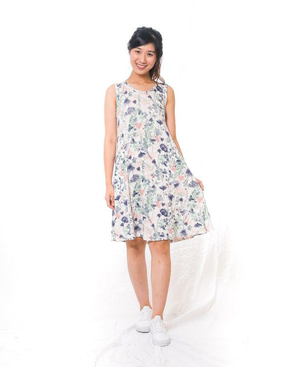 Sunny White Floral Sun Dress