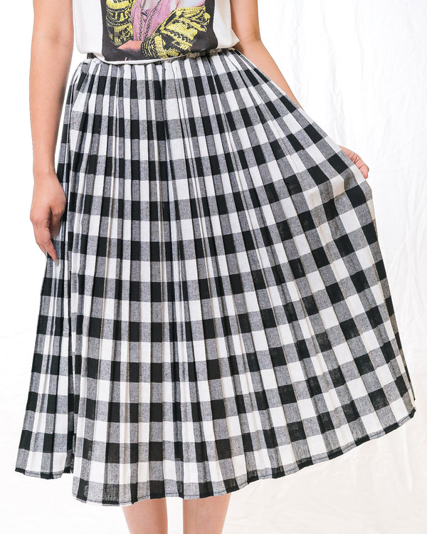 Kirei Gingham Long Skirt